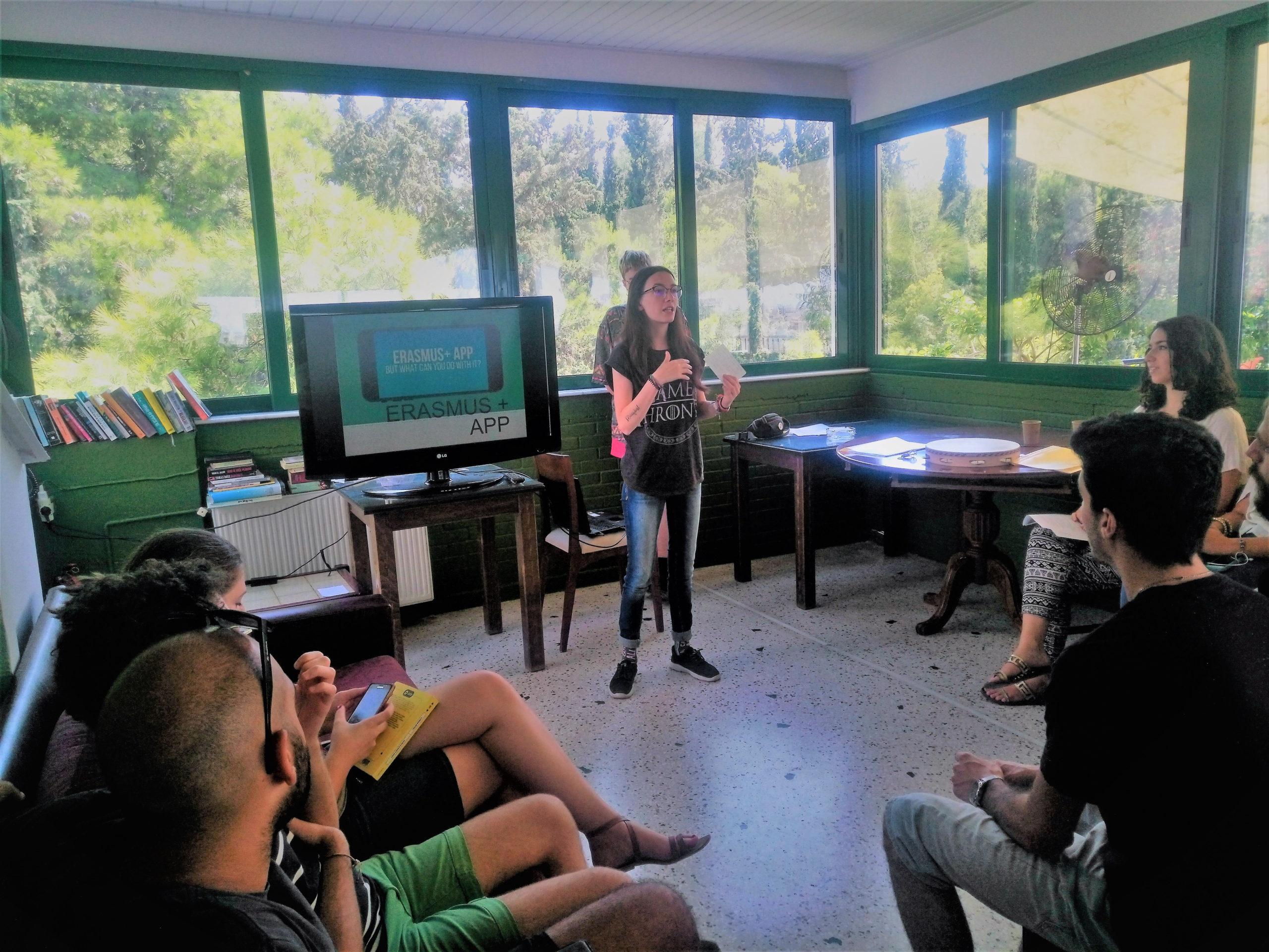 Presentation of the Erasmus + App by members of the Spanish team 1