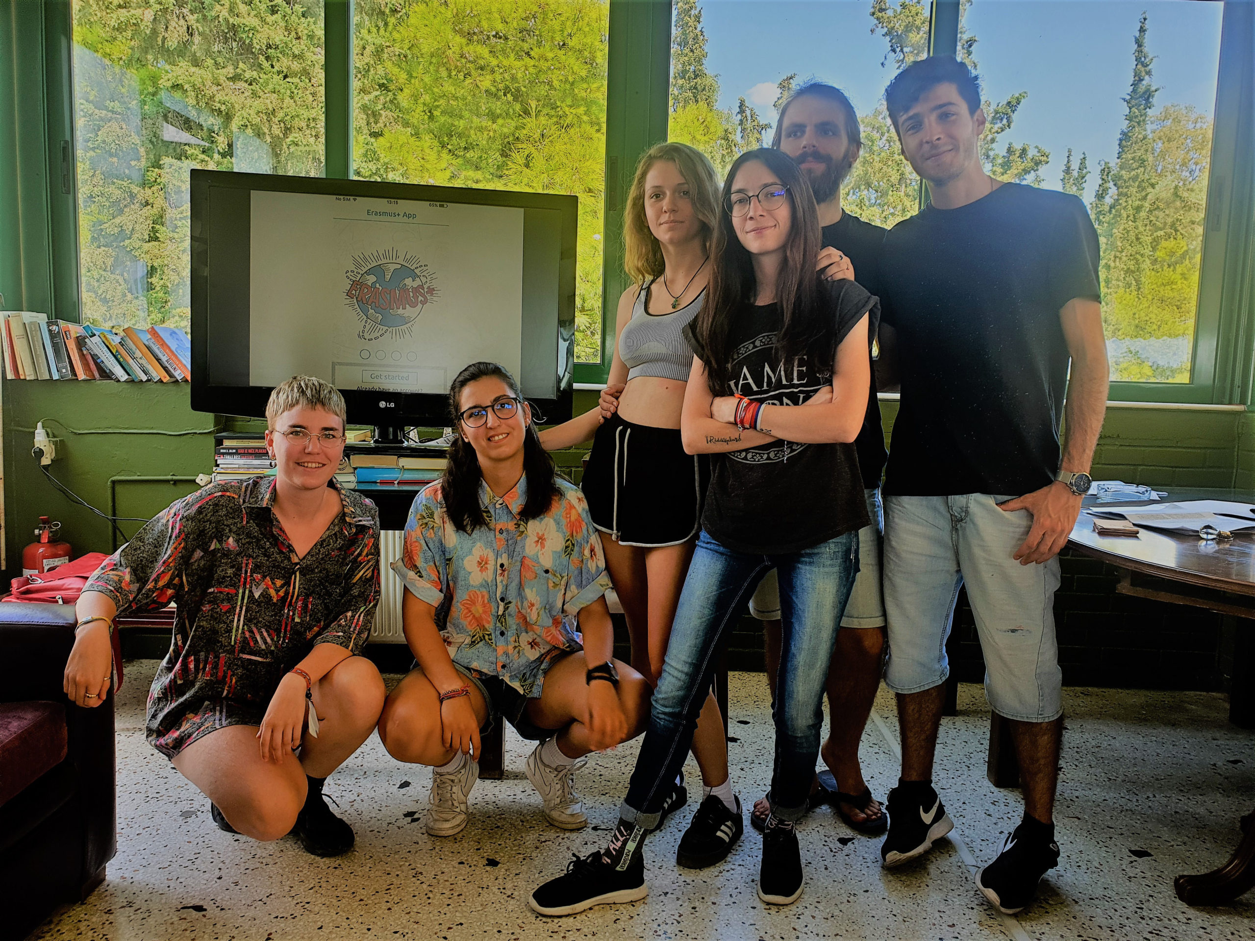 Presentation of the Erasmus + App by members of the Spanish team 2