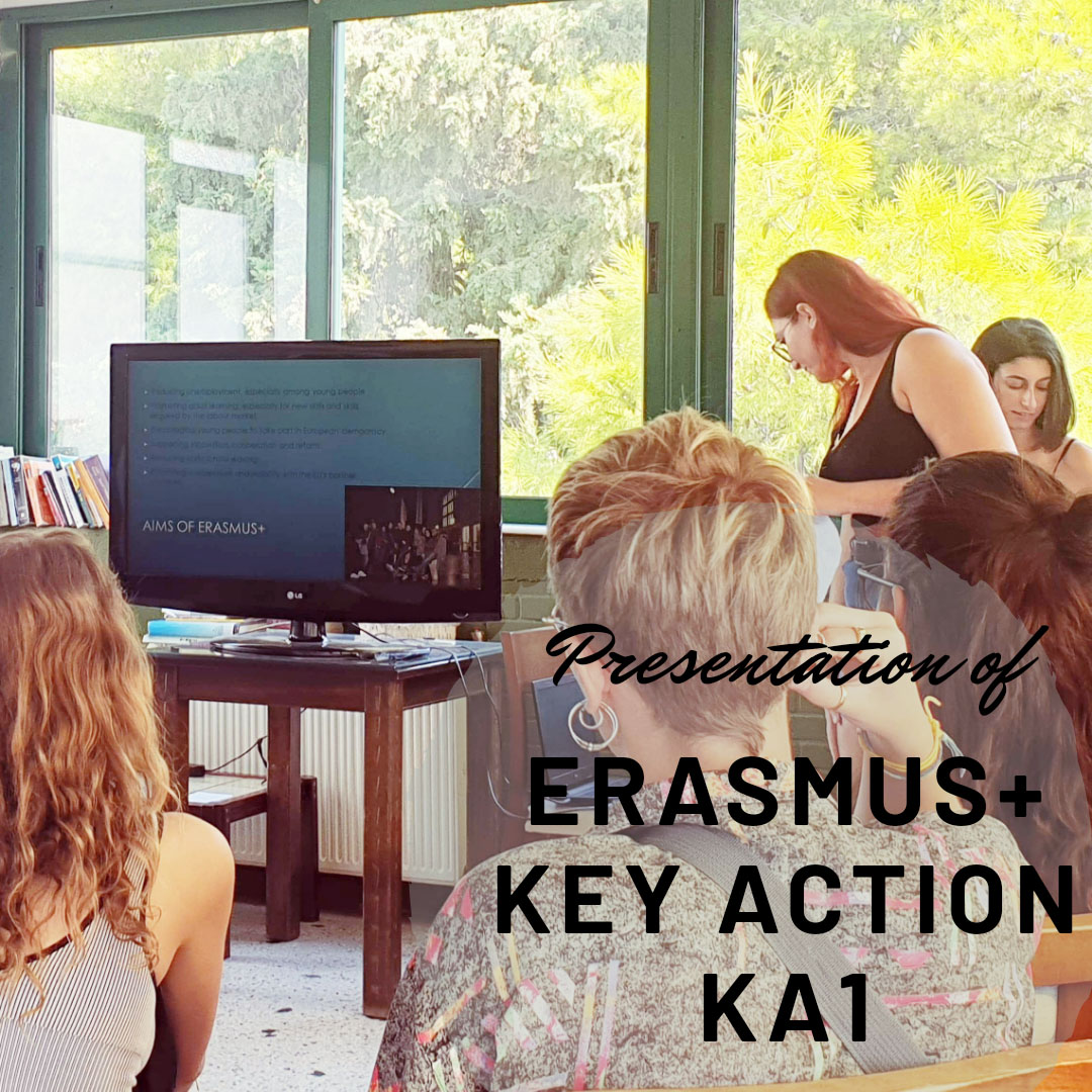Presentation of the Erasmus + programme and Key Action by members of the Cypriot team 1