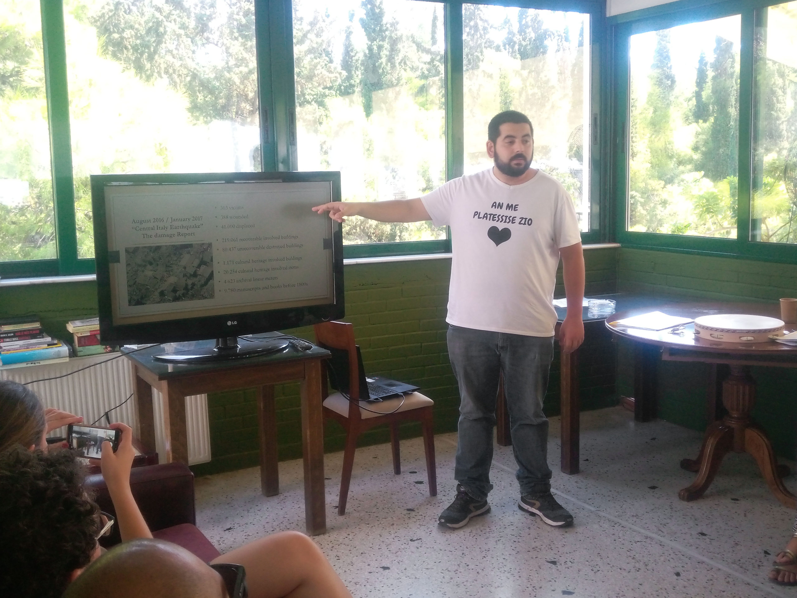 Presentation of the European Solidarity Corps by members of the Italian team